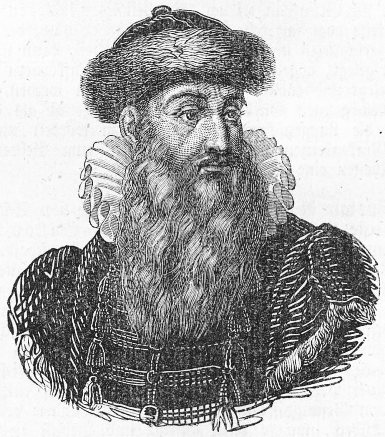 Zdjęcie przedstawia Johannesa Gutenberga.