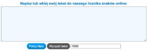 Licznik znaków dostępny w Internecie.